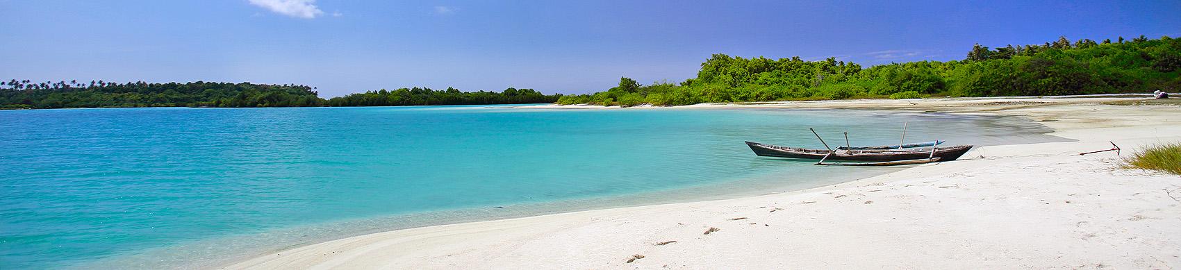 Beach on Wunga Island lagoon. North Nias (Nias Utara), Nias Island, Indonesia.
