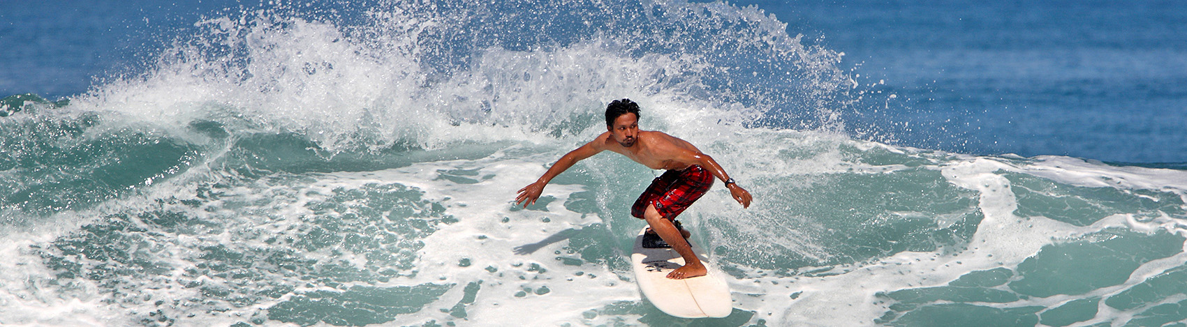 Surfing in Afulu on the west-coast of North Nias (Nias Utara), Nias Island, Indonesia.