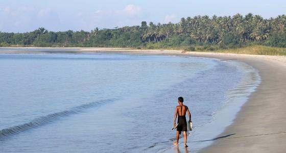 Afulu Beach on the west-coast of Nias Utara.