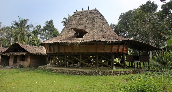 Traditional North Nias house in Anaoma village, Alasa sub-district.