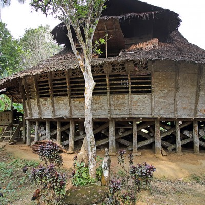 Traditional North Nias house in Fulolo village, Alasa sub-district.