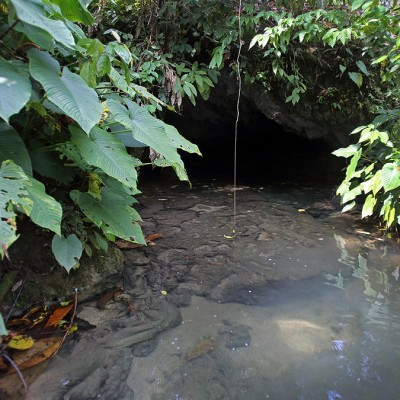 Entrance to Simangani Cave, Alasa sub-district, Nias Utara.