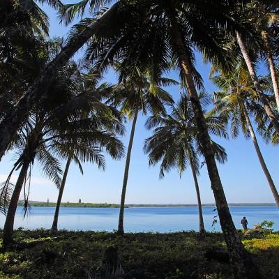View from La'fau Island, just off the north coast of Nias Utara.