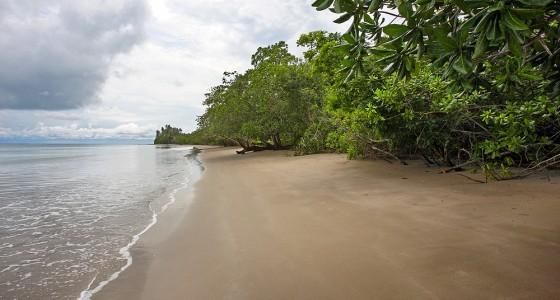 Lakha Beach on the east-coast of Nias Utara.