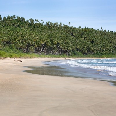 Lasambo Beach on the west-coast of Nias Utara.