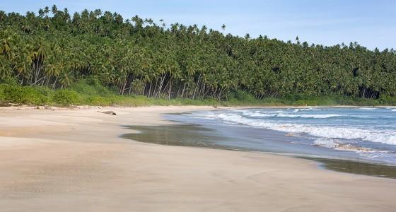 Lasambo Beach on the west-coast of Nias Utara.