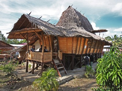 Lolofaoso Traditional House, Lotu, North Nias.