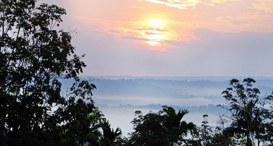 Sunrise over the North Nias east-coast seen from Maziaya Hill.