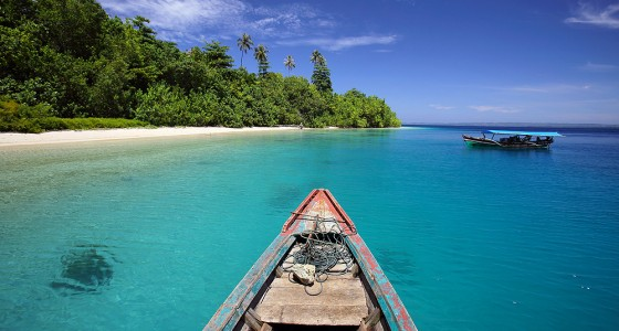Panjang Island, off the north coast of Nias Utara.