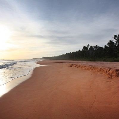 Pantai Pasir Merah (Red Sand Beach) on the west-coast of Nias Utara.