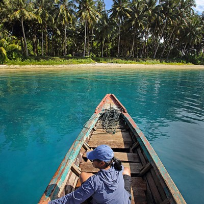 La'fau Island, just off the north coast of Nias Utara.