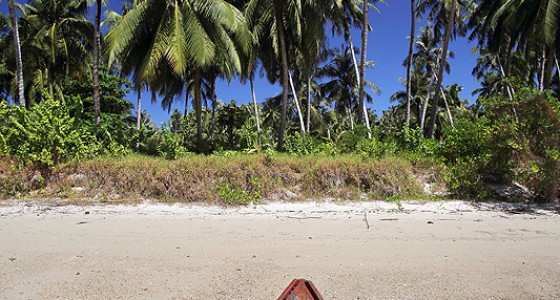 Beach on Makora Island, just off the north coast of Nias Utara.