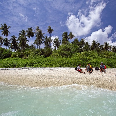 Pebble rock beach on Maose Island off the west-coast of Nias Utara.