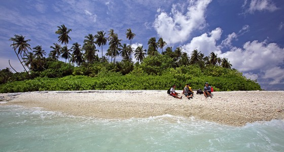 Pebble rock beach on Maose Island off the west-coast of Nias Utara.
