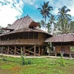 Teolo village traditional house, North Nias (Nias Utara), Nias Island, Indonesia.