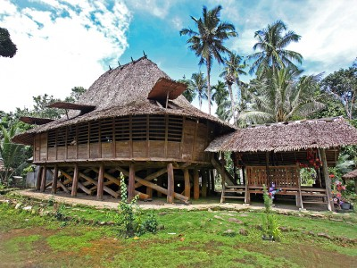 Teolo village traditional house, North Nias (Nias Utara), Nias Island, Indonesia.