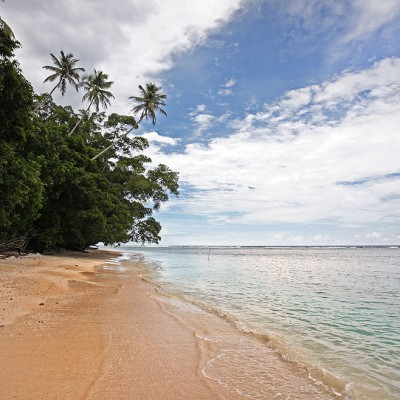 Seriwa'o Beach on the north-east corner of Nias Island.