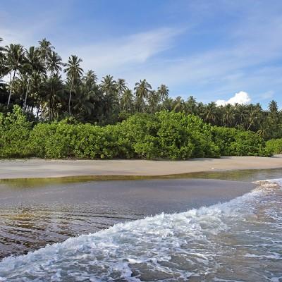 Sihago Beach located in a hidden cove on the west-coast of Nias Utara.