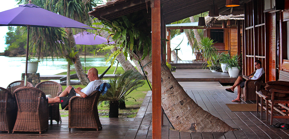 Telo Island Lodge - a small high end surf resort on Batu Islands south of Nias.
