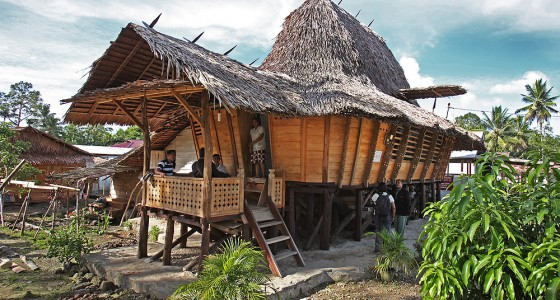 Traditional North Nias house in Lolofaoso village, Lotu sub-district.