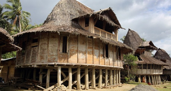 Traditional North Nias house in Humene Siheneasi village, Tugala Oyo sub-district.