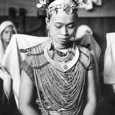 Nias girl getting dressed for wedding.National Museum of World Cultures. Collection number: TM-10005440.