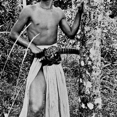 Young Nias man with a sword. National Museum of World Cultures. Collection number: TM-10005451