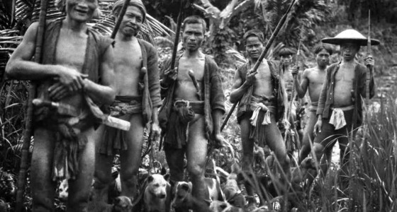 Hunting party, Nias Island. National Museum of World Cultures. Collection number: TM-60024859
