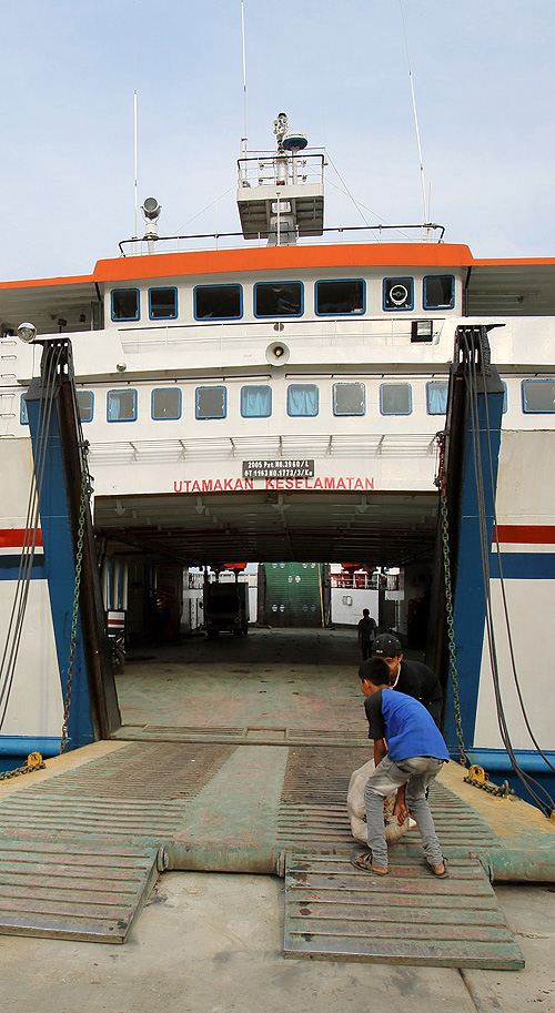 One of the ferry's between Sumatra and Nias Island.