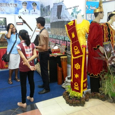 Promoting North Nias at fair in Medan (Pekan Raya Sumatera Utara). North Nias is increasingly participating in national tourism events and tradeshows.