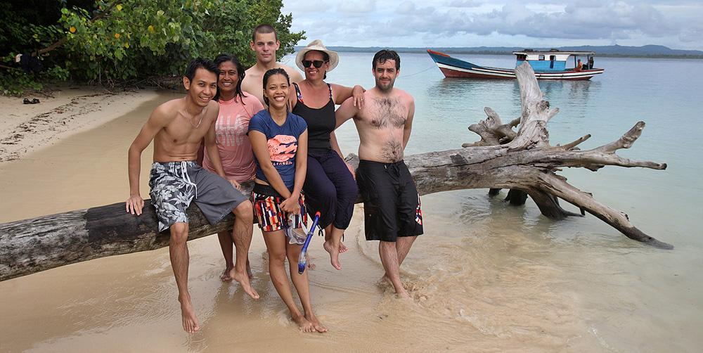 Tourist visiting Panjang Island