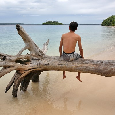 The Art of doing Nothing! Chilling out on a beach on Panjang Island, North Nias Regency.